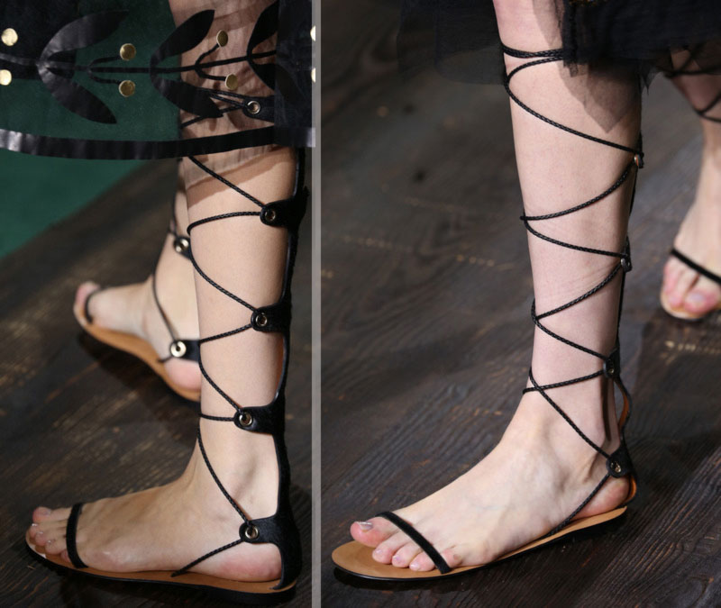 black gladiator sandals Valentino Fall 2014 Couture