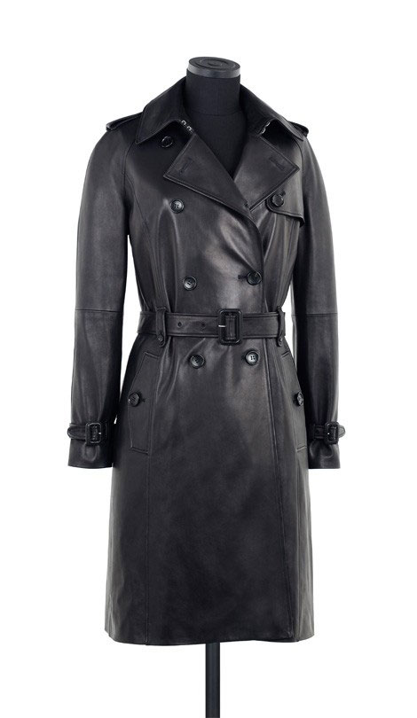 black leather trench coat Loewe