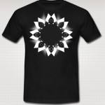 black organic cotton tee shirt with diamonds
