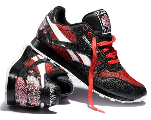 black red Keith Haring Reebok sneakers