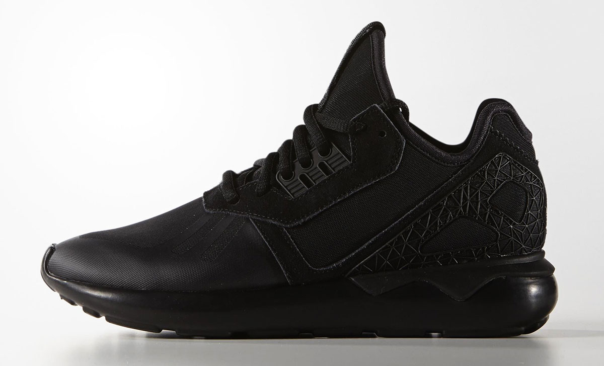 black sneakers Adidas Tubular runner shoes