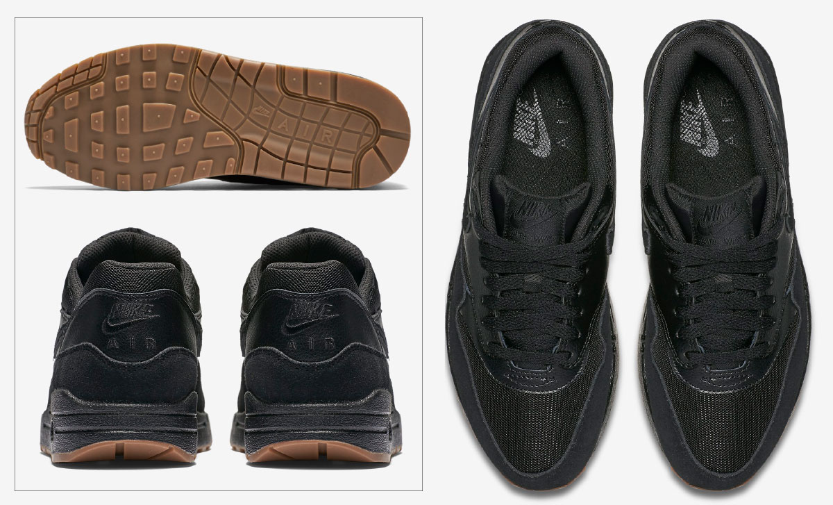 black sneakers Nike Air Max one essential