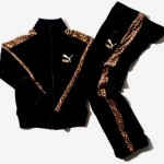 black velour tracksuit with leopard print stripes puma beams
