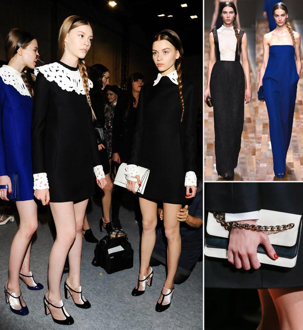 black white blue Valentino Fall 2013 Dutch collection