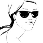 Black and white sketch Garance Dore