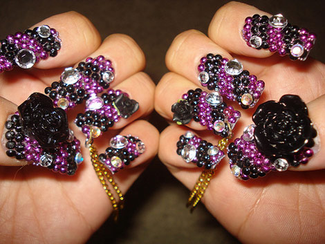 blackberry manicure