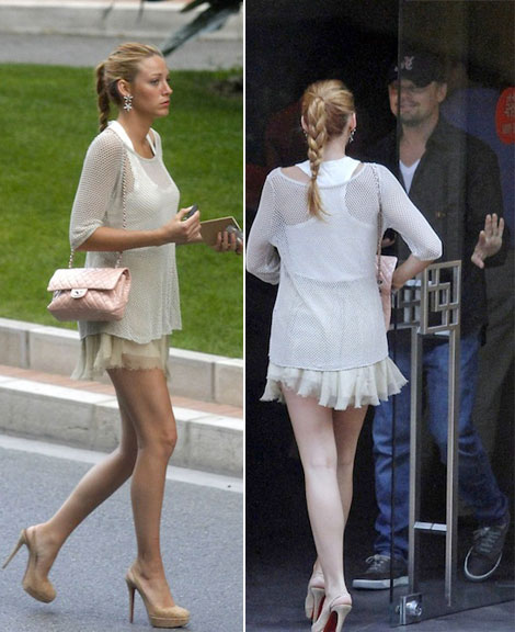 Blake Lively Chanel bag Leonardo di Caprio
