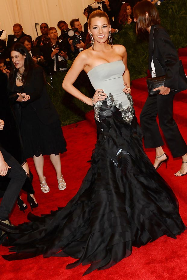 Blake Lively Gucci dress 2013 Met Gala