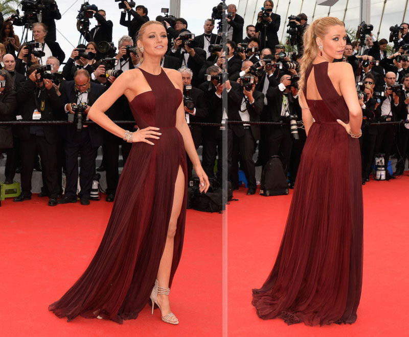Blake Lively Gucci dress 2014 Cannes Red Carpet