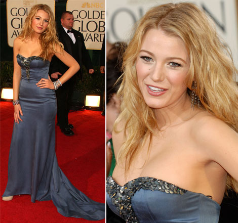 Blake Lively's Nina Ricci Dress At The Golden Globes 2009