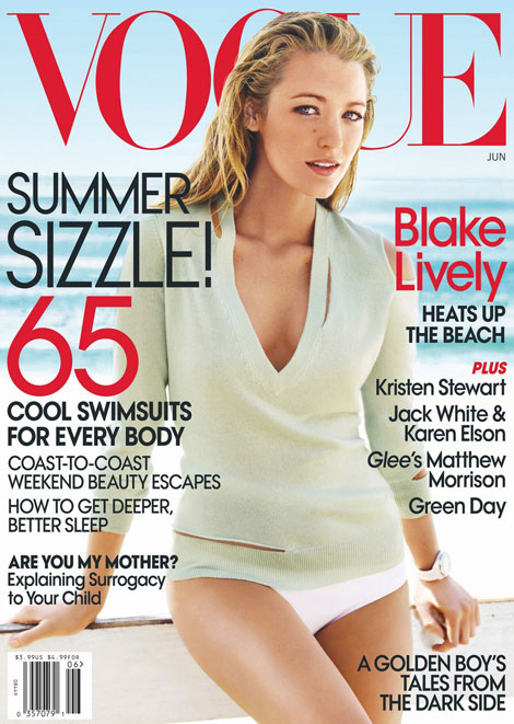 Blake Lively Vogue June 2010 cover