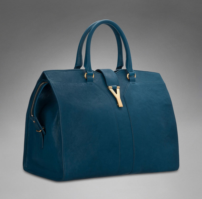 Angelina Jolie's Blue Bag: Yves Saint Laurent Chyc Cabas