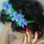 blue flowers spring headband how to