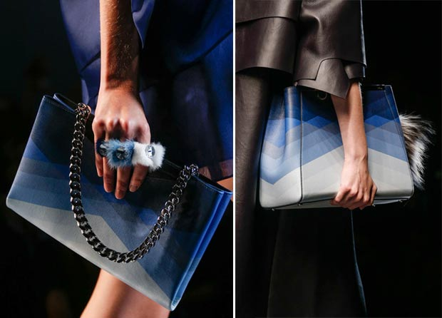 blue gradient bags Fendi SS14
