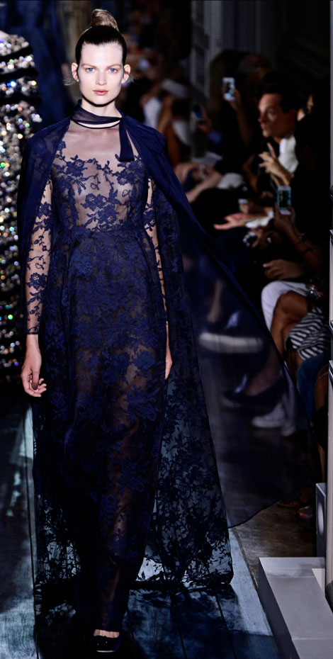 Blue Is The New Valentino Haute Couture Fall 2012 Collection