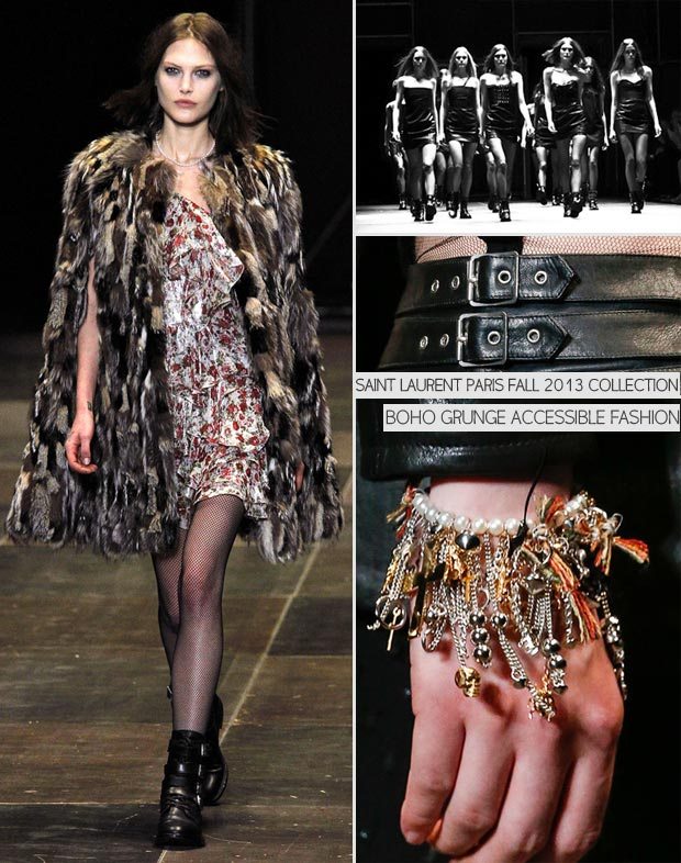 Boho Grunge Fall 2013 Saint Laurent Paris