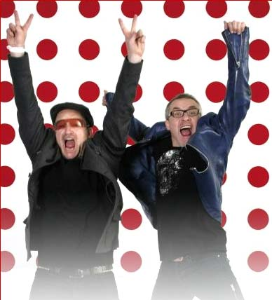 Bono and Damien Hirst for Auction(red)