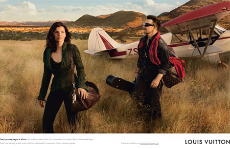 Bono wife Ali Hewson Louis Vuitton core values ad campaign