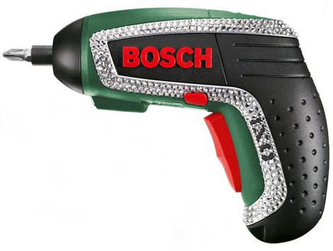 bosch ixo bling screwdriver with swarovski crystals stylefrizz. Black Bedroom Furniture Sets. Home Design Ideas