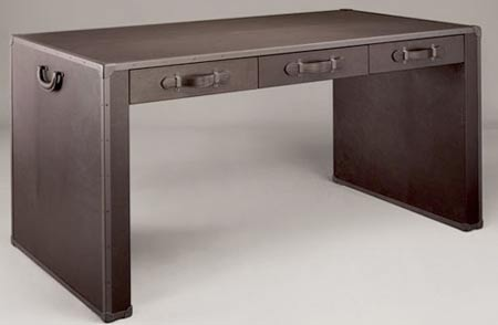 Bottega Veneta Leather Desk