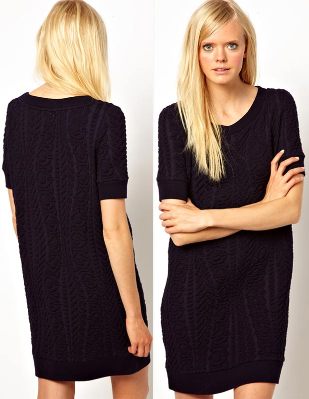 boucle sweater dress