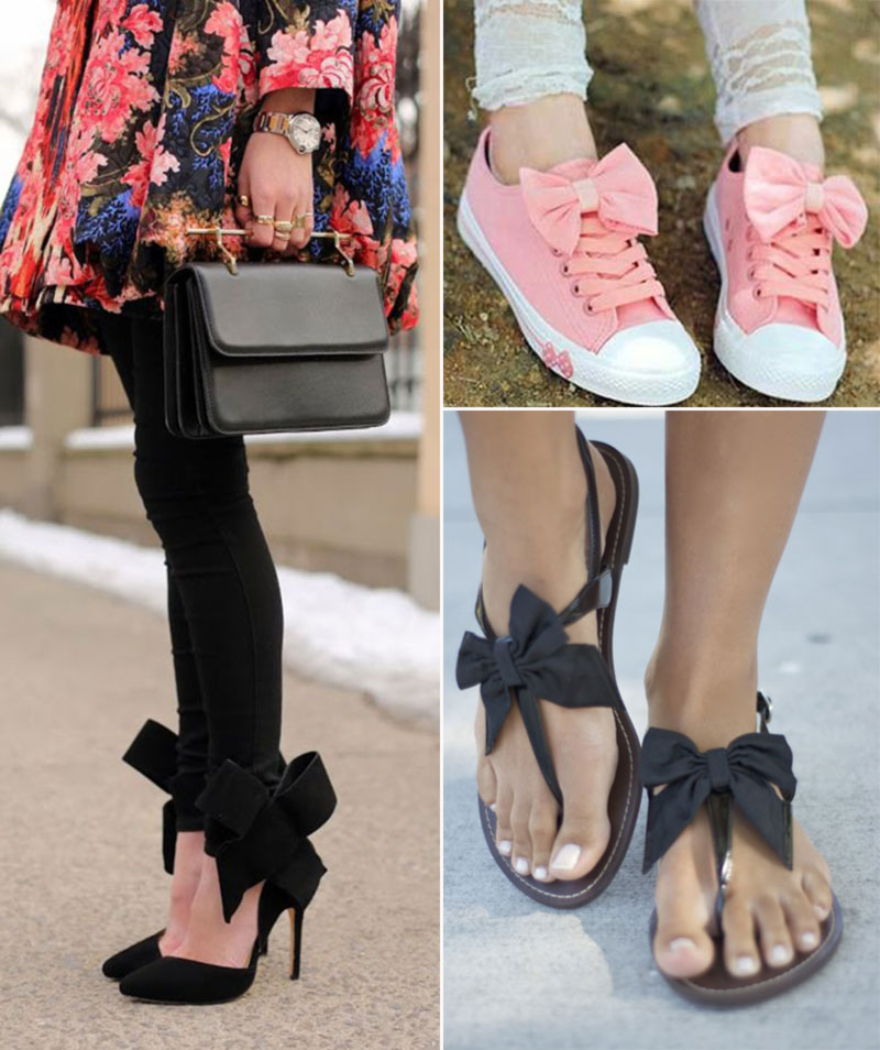 bow shoes sandals sneakers with bows