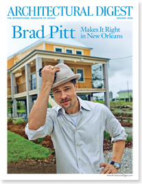 Brad Pitt Architectural Digest January 2009 New Orleans cover