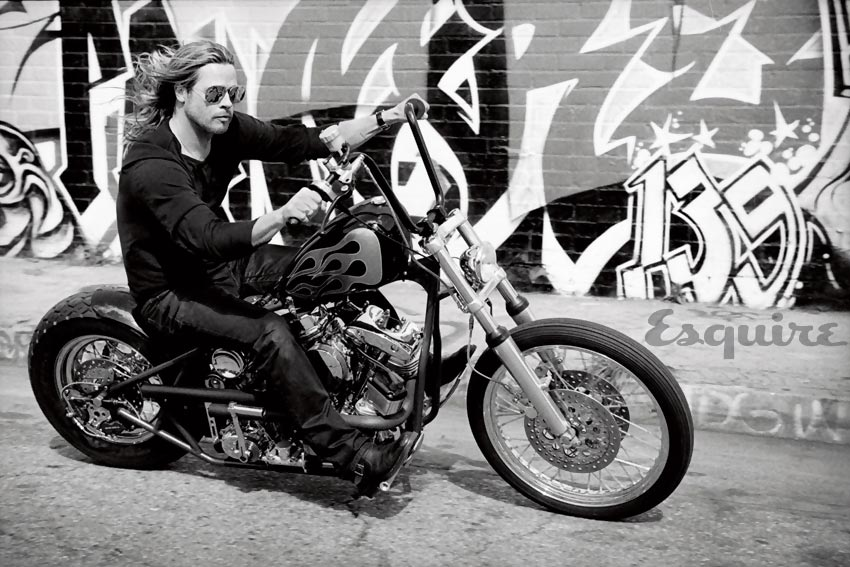 Brad Pitt custom bike for Esquire