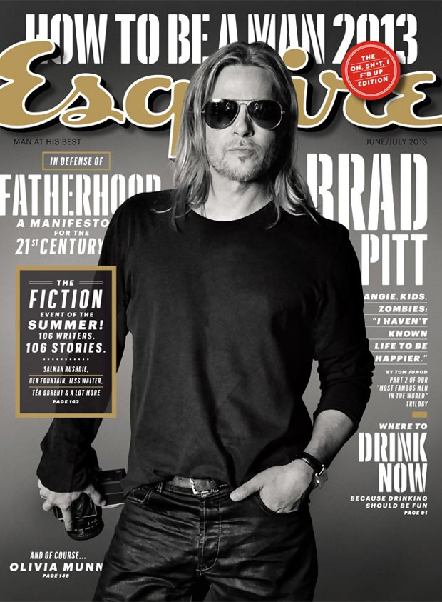 Brad Pitt Esquire June 2013 cover