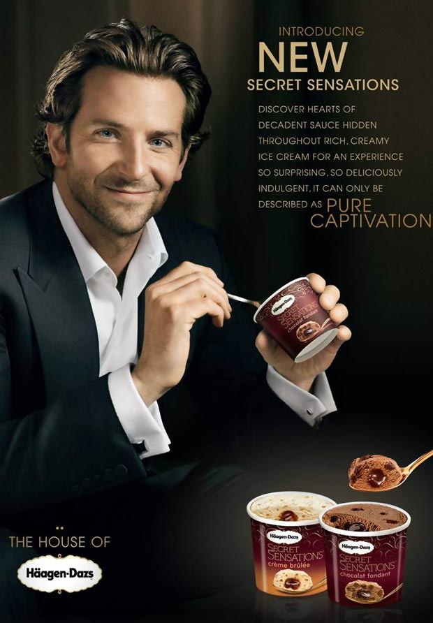The House Of Haagen Dazs Proudly Presents Bradley Cooper And His Spoon! Wait, What?