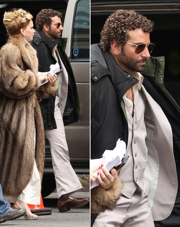 April Hair: Bradley Cooper Gets A Perm, Starring With Jennifer Lawrence Again