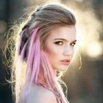 braided hair with pink extensions