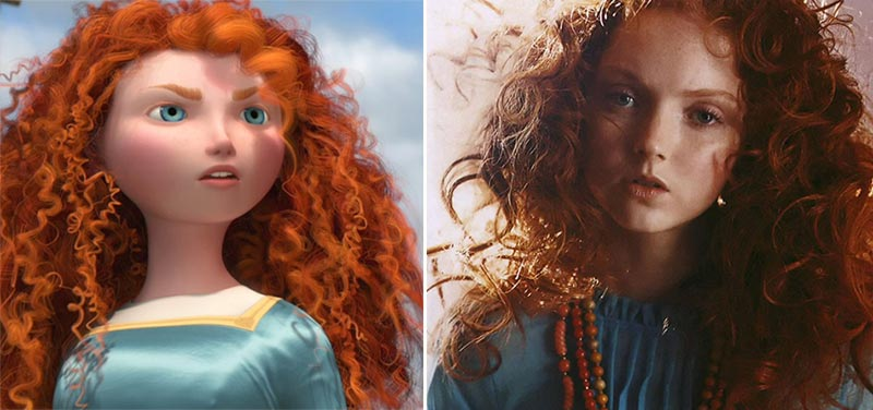 Brave Merida Princess looks like model Lily Cole