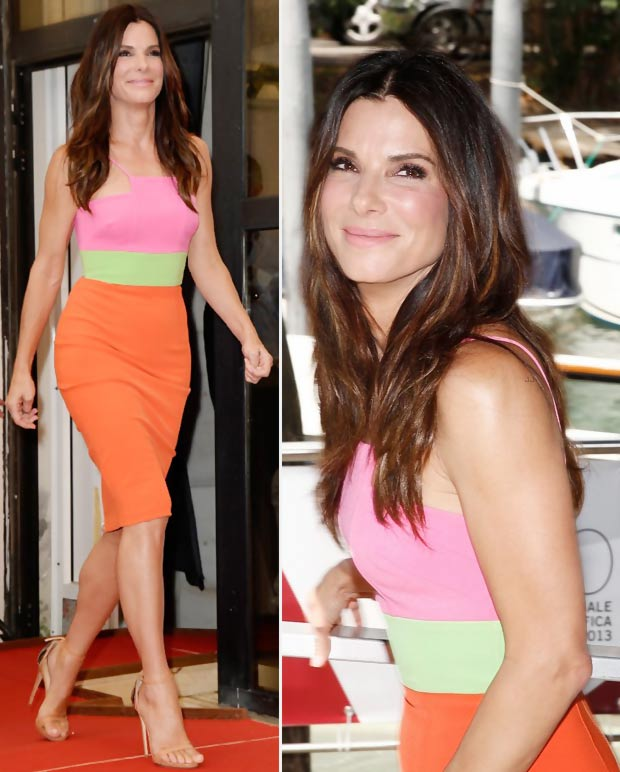 Formal Star Style: Sandra Bullock's Alex Perry Bright Dress