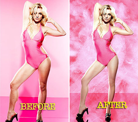 Britney Spears Candie s Campaign without photoshop