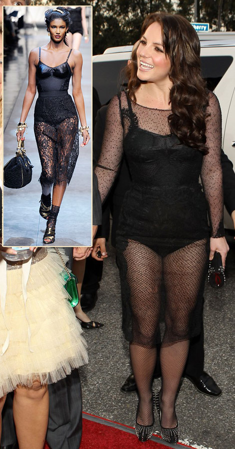 Britney Spears Dolce And Gabbana Black Lace Dress For 2010 Grammys