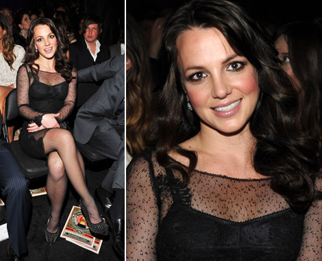 Britney Spears Dolce And Gabbana Black Lace Dress For 2010