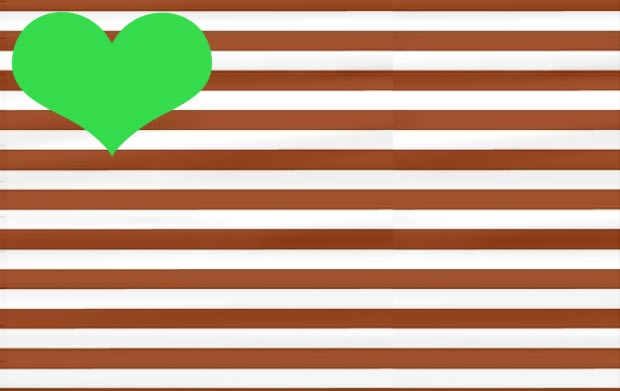 brown stripes bright green colors combo