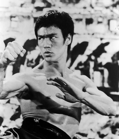 Bruce Lee bw photo