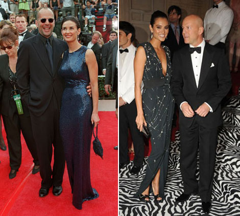 Bruce Willis Emma Heming vs Demi Moore