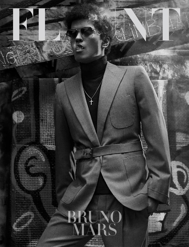 Bruno Mars covers Flaunt Magazine