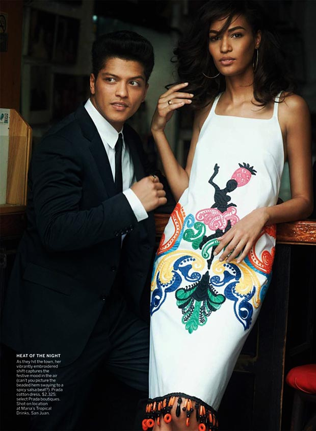 Bruno Mars Joan Smalls Vogue 2011 pictorial