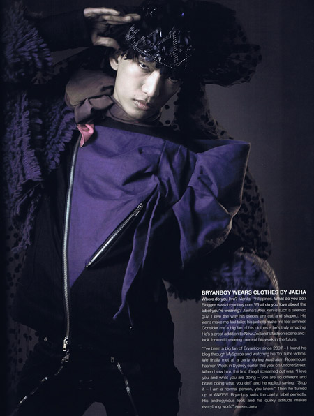 Bryanboy magazine picture Jaeha clothes