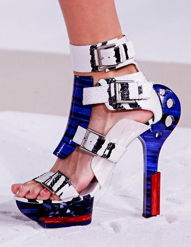 buckled sandals Spring Summer 2014 McQueen