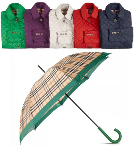 Burberry April Showers collection 2010 umbrella