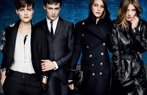 Burberry FW 10 11 ad campaign Rosie