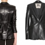 Burberry leather jacket worn by Scarlett Johansson Captain America TWS