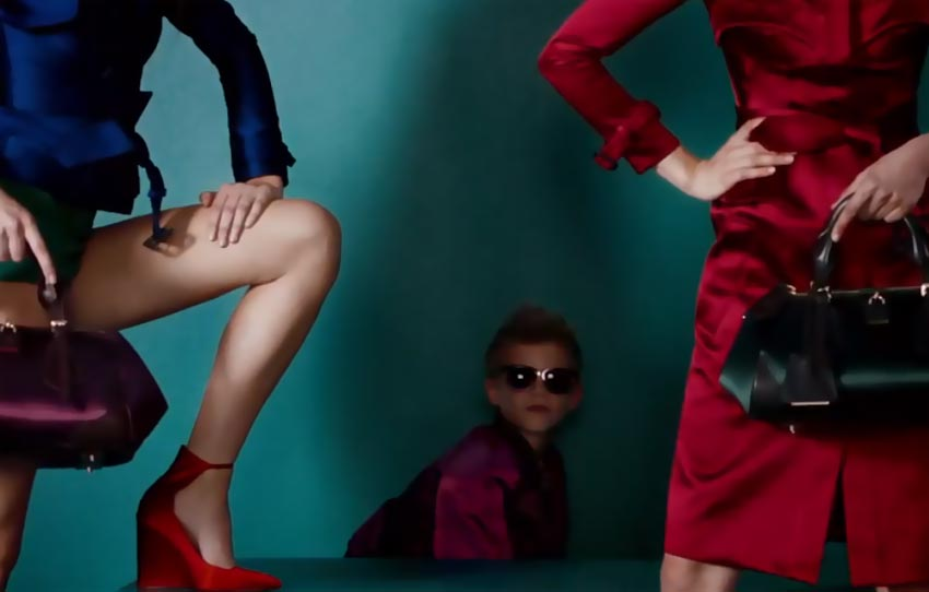 Burberry Spring 2013 campaign Romeo Beckham bombing