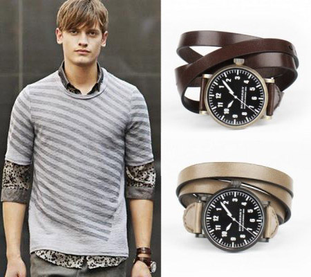 Burberry Three Wrap Strap Watch
