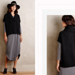 cable stitch black sweater short sleeve vest